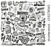 business   doodles set | Shutterstock .eps vector #153278342