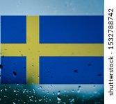 Sweden national flag on...
