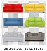 sofa big set isolated... | Shutterstock . vector #1532796035
