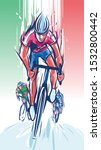 illustration of  cyclist wins... | Shutterstock .eps vector #1532800442