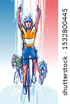 illustration of  cyclist wins... | Shutterstock .eps vector #1532800445