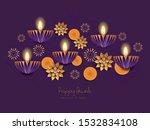 happy diwali   deepavali hindu... | Shutterstock .eps vector #1532834108