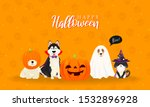 happy halloween greeting card... | Shutterstock .eps vector #1532896928