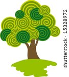 lollipop tree. vector. | Shutterstock .eps vector #15328972