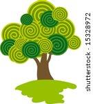 lollipop tree. vector. | Shutterstock .eps vector #15328972