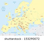 europe map | Shutterstock .eps vector #153290072