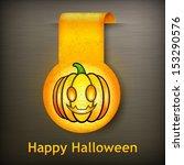 halloween sticker  yellow...   Shutterstock .eps vector #153290576