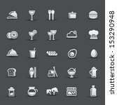 food and drinking icons vector | Shutterstock .eps vector #153290948