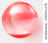 realistic red glass ball.... | Shutterstock .eps vector #1532911178