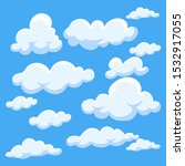 element cloud pack with blue... | Shutterstock .eps vector #1532917055