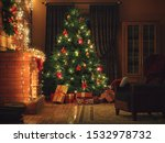 3d Rendering Christmas Interio...