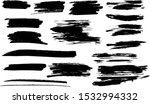 vector paintbrush set   brush... | Shutterstock .eps vector #1532994332