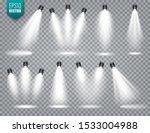 vector spotlight set. bright... | Shutterstock .eps vector #1533004988