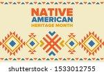 native american heritage month...   Shutterstock .eps vector #1533012755
