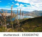 Small photo of En esta foto podemos observar la laguna de Yahuarcocha en la provincia de Imbabura en el Ecuador.