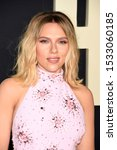 """Small photo of LOS ANGELES, USA. October 15, 2019: Scarlett Johansson at the premiere of """"JoJo Rabbit"""" at the Hollywood American Legion. Picture: Paul Smith/Featureflash"""