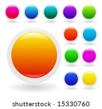 vector set  colorful glossy... | Shutterstock .eps vector #15330760
