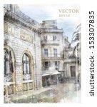 illustration of city street.... | Shutterstock .eps vector #153307835