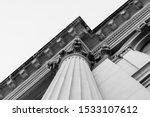 A Black And White Column Detai...
