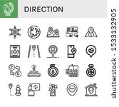 Set Of Direction Icons. Such As ...