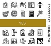 set of yes icons. such as...