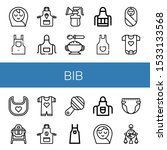 bib icon set. collection of... | Shutterstock .eps vector #1533133568