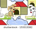 seamless background with dogs....   Shutterstock .eps vector #153313382