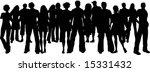 huge crowd of people | Shutterstock .eps vector #15331432