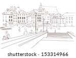 street view in the old city  ... | Shutterstock .eps vector #153314966