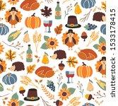 seamless thanksgiving day... | Shutterstock .eps vector #1533178415