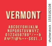 vermont vintage 3d vector... | Shutterstock .eps vector #1533182108