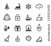winter icons with white... | Shutterstock .eps vector #153321455