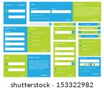 editable web form with trendy... | Shutterstock .eps vector #153322982