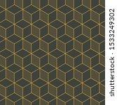 gold line patterns on dark... | Shutterstock .eps vector #1533249302