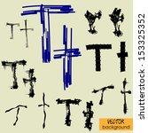 art sketch set of vector... | Shutterstock .eps vector #153325352