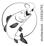 the figure shows fish bass | Shutterstock .eps vector #153326792