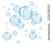 transparent soap bubbles on... | Shutterstock .eps vector #153328532