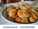 Knotted Dinner Rolls In A Bowl...