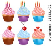 cupcake | Shutterstock .eps vector #153331472