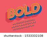 vector of stylized modern font... | Shutterstock .eps vector #1533332108