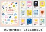 happy birthday wall calendar.... | Shutterstock .eps vector #1533385805