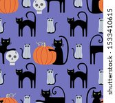 cute whimsical halloween cats ... | Shutterstock .eps vector #1533410615