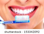 Beautiful Woman With Toothbrus...
