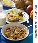 corn flakes and muesli with... | Shutterstock . vector #15334300