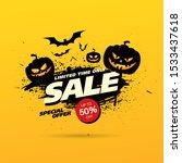 halloween sale banner layout... | Shutterstock .eps vector #1533437618
