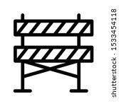 barrier thin line vector icon | Shutterstock .eps vector #1533454118