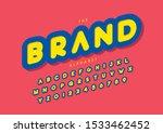 vector of stylized modern font... | Shutterstock .eps vector #1533462452