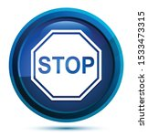 stop sign icon isolated on... | Shutterstock .eps vector #1533473315