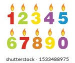 colorful candles on a birthday  ... | Shutterstock .eps vector #1533488975