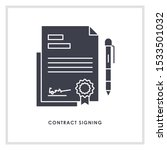contract sign icon design... | Shutterstock .eps vector #1533501032